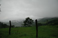 Heading down from Monteverde in the rain, we could look down into the misty valleys of Costa Rica.