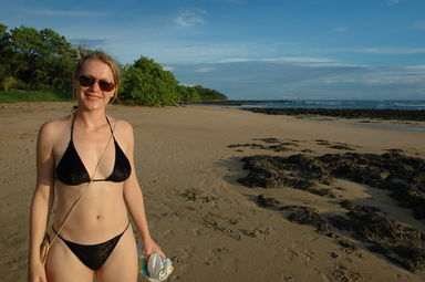 The lovely Beata on Playa Avellanas.