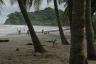 The popular beach at Sámara, which seems to be a popular destination among Costa Ricans
