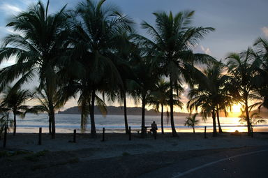 Playa Carillo at sunset, and heading home