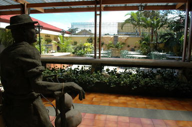 Our hotel in San José had a nice outdoor terrace in which to enjoy our breakfast